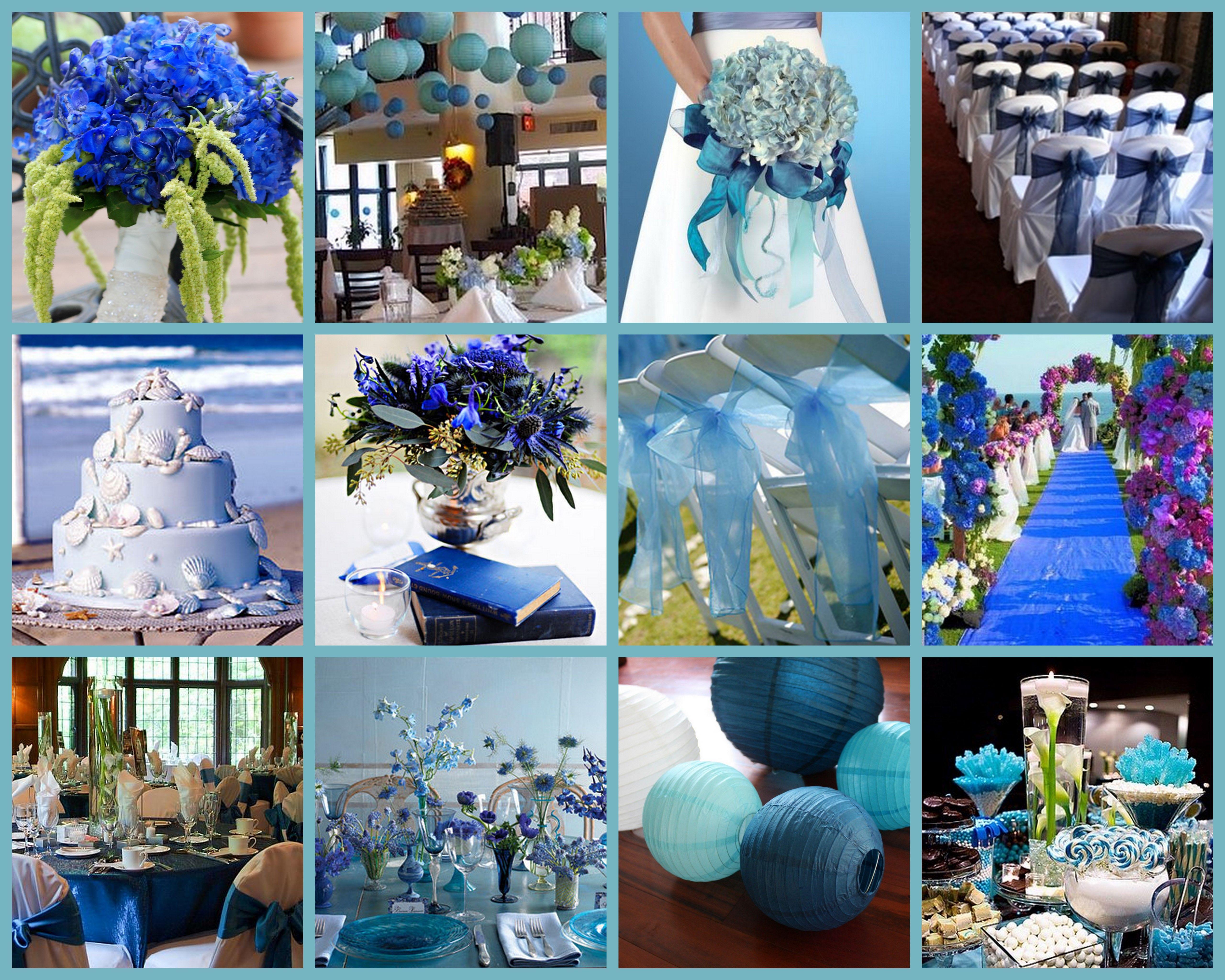 Blue Royal Blue Navy Blue Blue Lantern Aisle Runner Wedding
