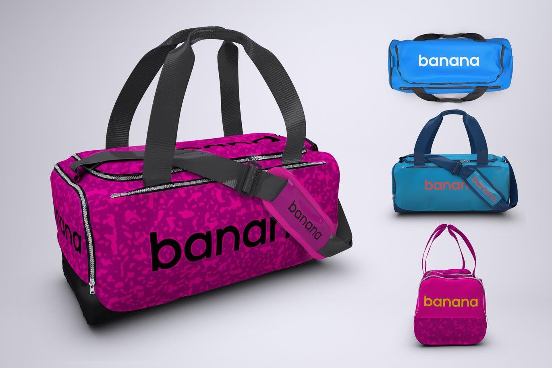 Download Sports Bag Or Gym Duffel Bag Mock Up By Sanchi477 On Envato Elements Bag Mockup Sport Bag Bags