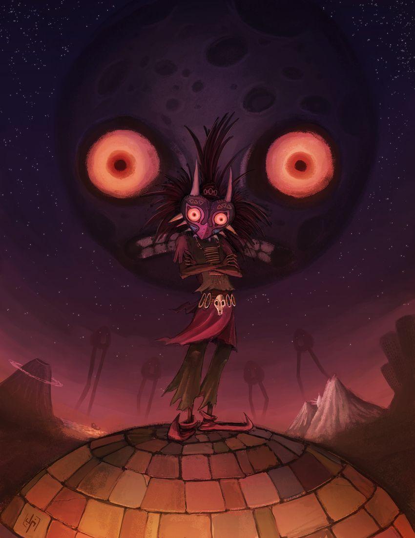 The Skull Kid Joven Paul Zelda Art Legend Of Zelda Legend Of