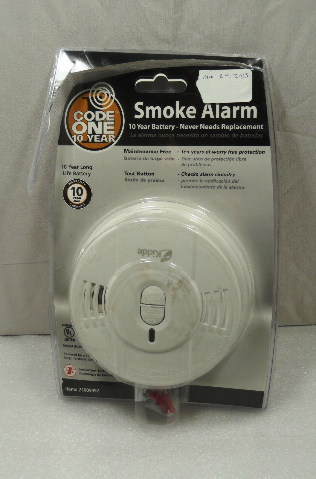 Smoke Alarm Smoke Alarm Ideas Smokealarm Firealarm Code One 10 Year Lithium Ion Battery Operated Ionization Smoke Alarm C Smoke Alarms Alarm Fire Alarm