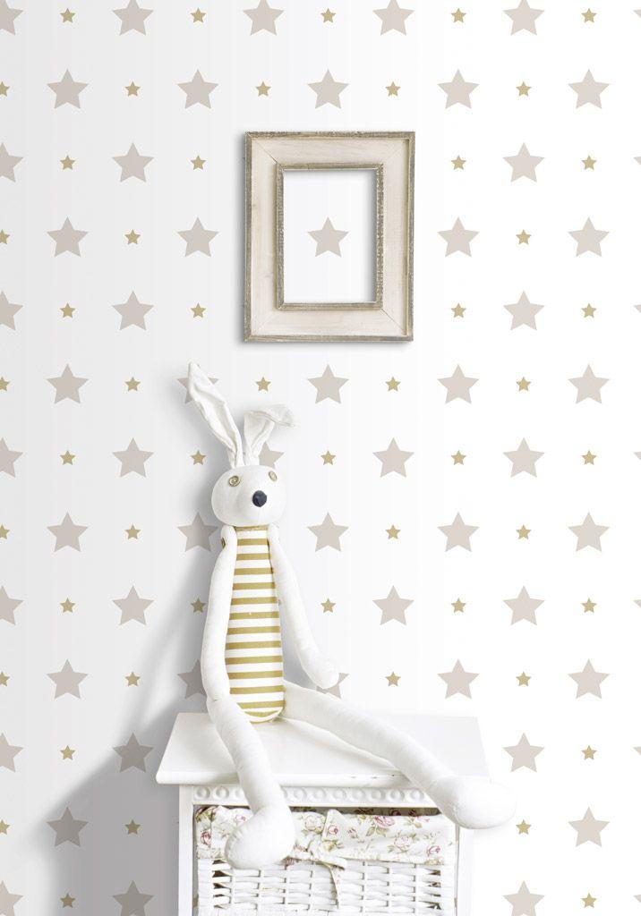Pin de papeles pintados en papel pintado infantil treboli for Decoracion habitacion bebe papel pintado
