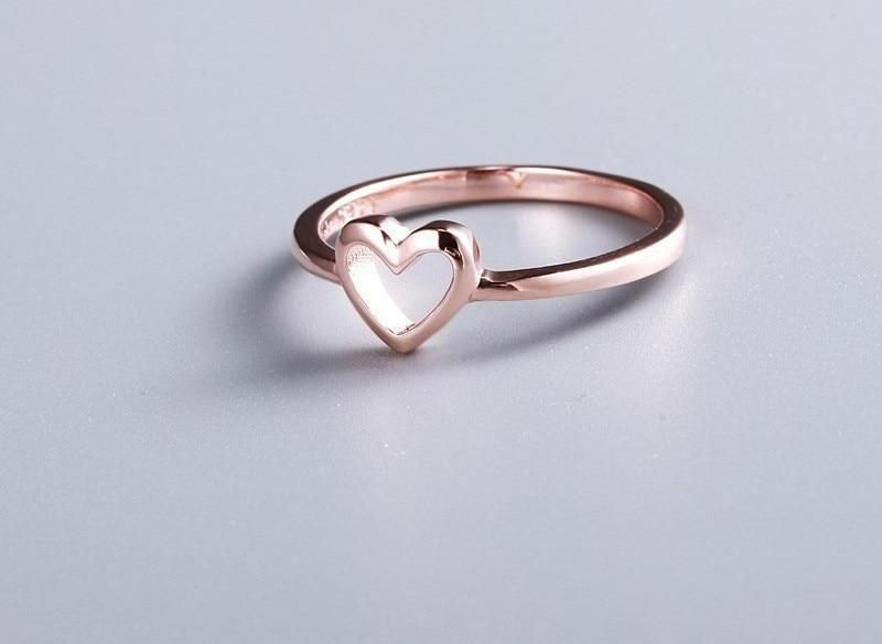 92fb6511cd11a Women's Rose Gold Color Heart Shaped Ring in 2019 | Women's Rings ...