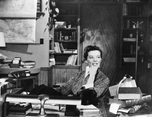 Katherine Hepburn As A Librarian In The 1957 Film Desk Set