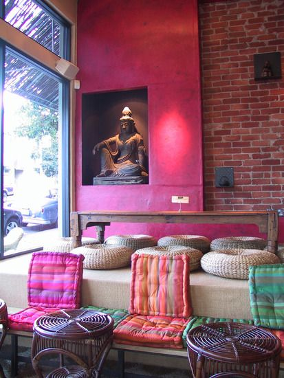 Interiors  SAMOVAR TEA LOUNGE, SAN FRANCISCO. COLOR DESIGN AND PHOTO BY BARBARA  JACOBS