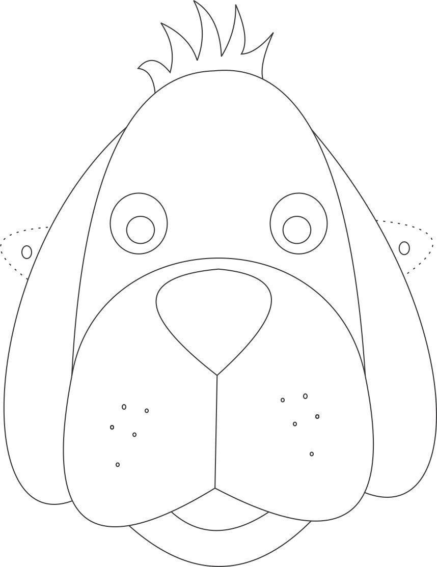 Dog Mask printable coloring page for kids: Dog Mask ...