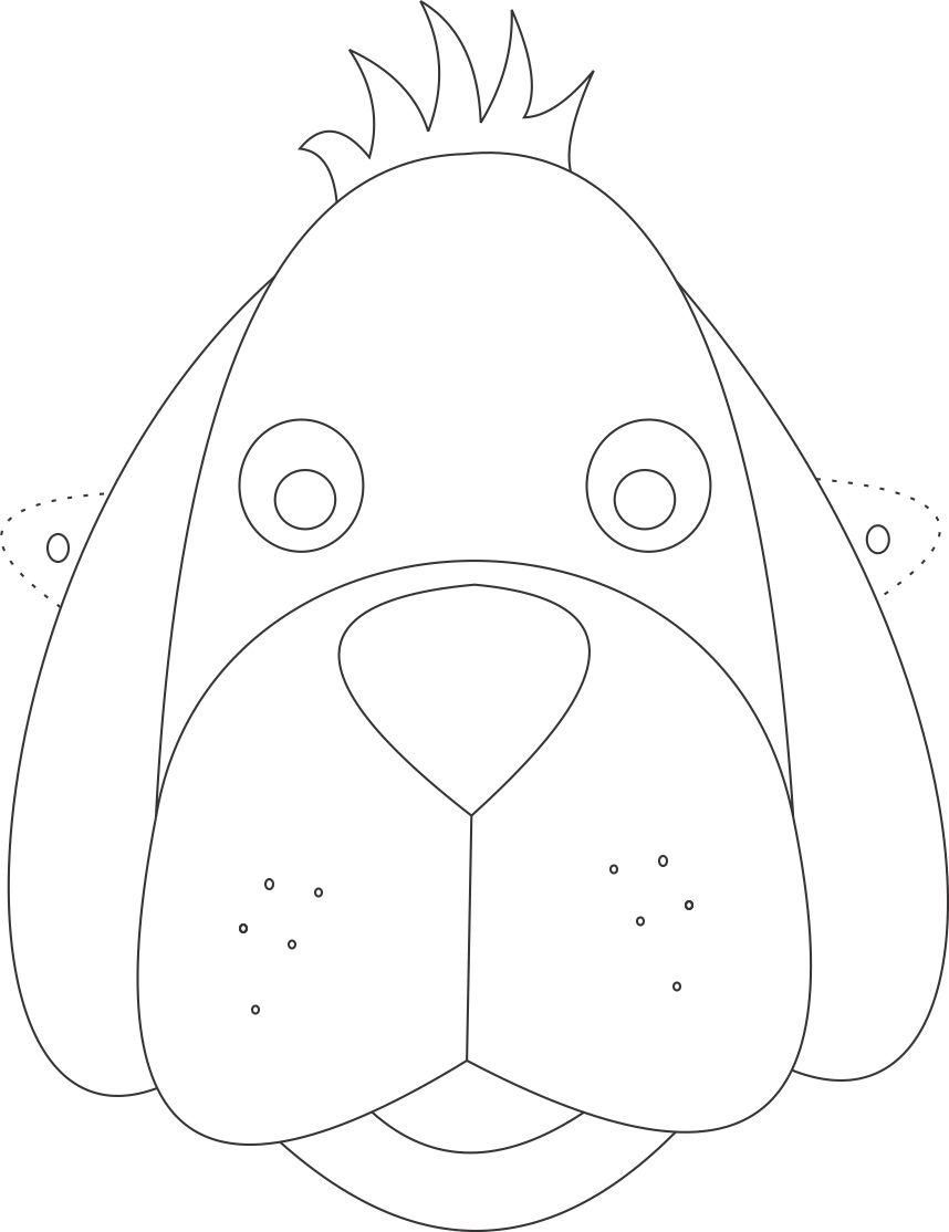 Dog Mask Printable Coloring Page For Kids Dog Mask Coloring
