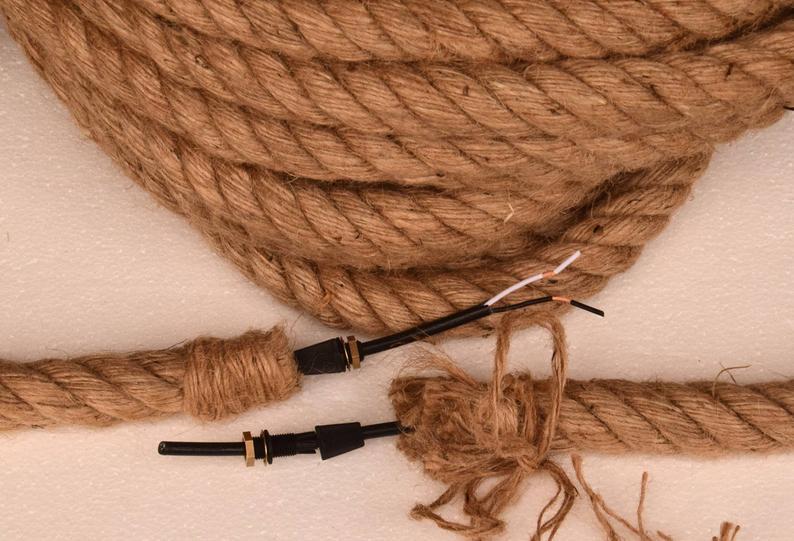 1 Diameter Electric Rope Light Cord For Diy Pendant Etsy Rope Light Lamp Cord Rope Pendant
