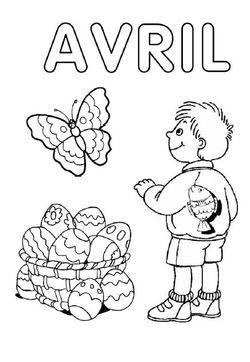 Coloriage Avril Printemps.Mars Avril Images Diverses Kindergarten Preschool Et Teacher