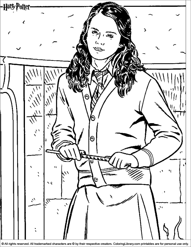 Harry Potter Coloring Page Color Pages Pinterest Harry - Ginny-weasley-coloring-pages