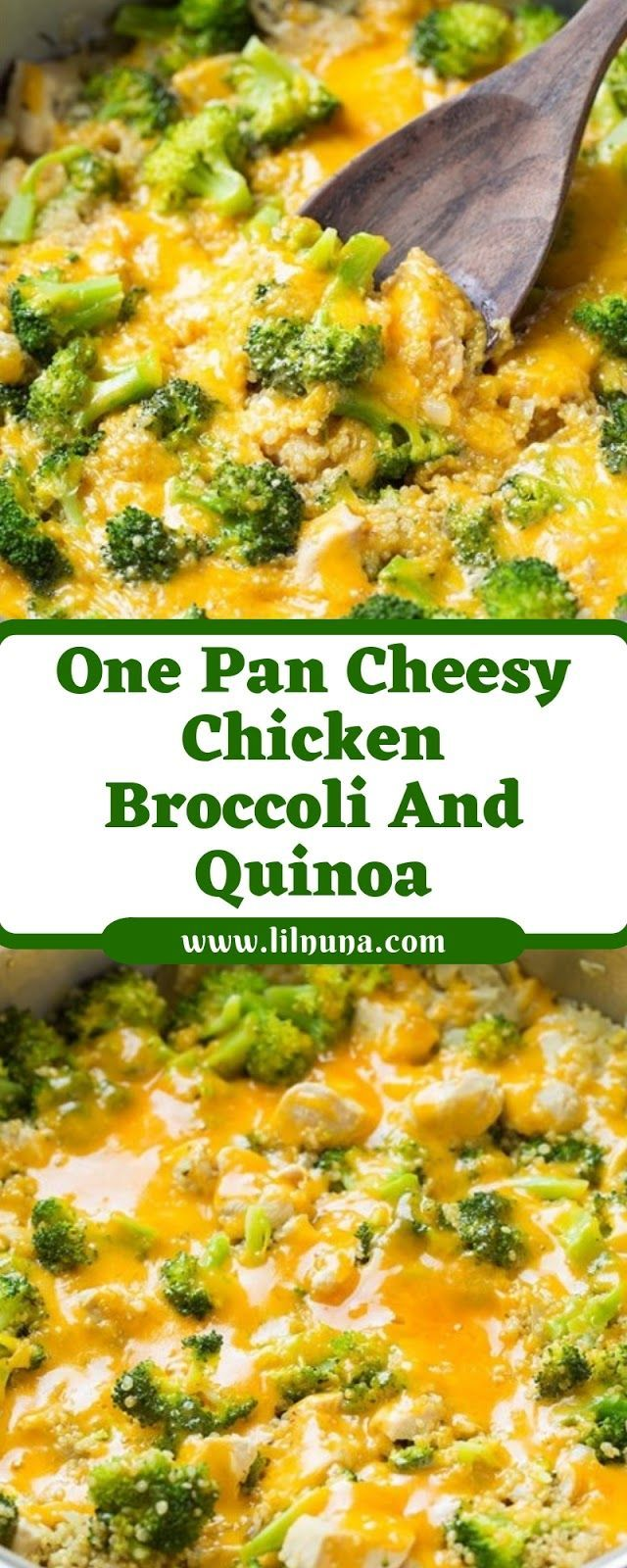 Photo of A Pan Cheesy Chicken Broccoli and Quinoa – #Broccoli #Cheesy #Chicken #a #Pa …