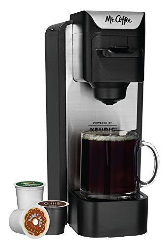 Mr Coffee K Cup Brewing System With Reusable Grounds Filter Silver Sc100 Single Cup Coffee Maker K Cup Coffee Maker Mr Coffee