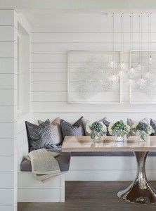 Breakfast Nook Table This Rectangular Tulip Has A Solid White Oak Top Breakfastnook Tuliptable Whiteoaktable