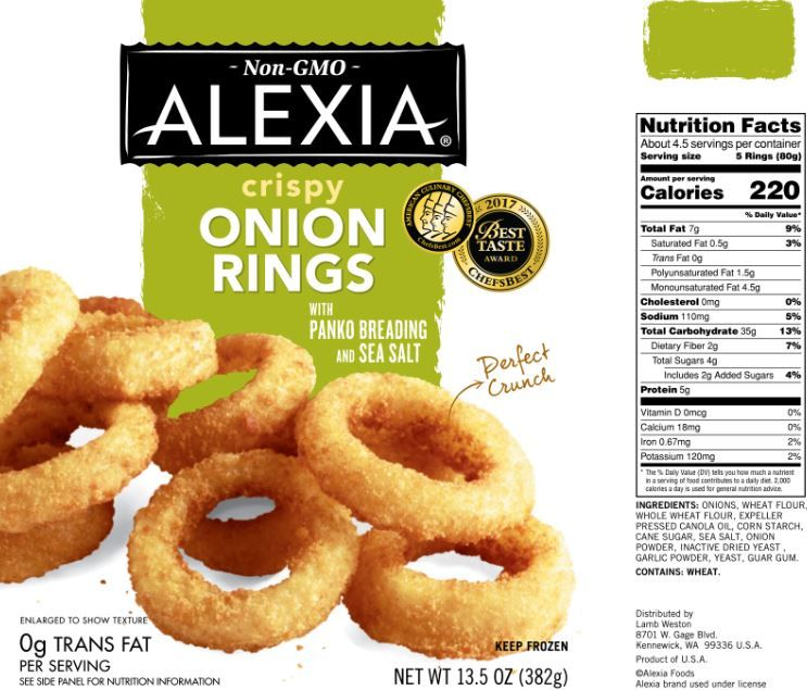 The updated Nutrition Facts label, as seen on Alexia ...