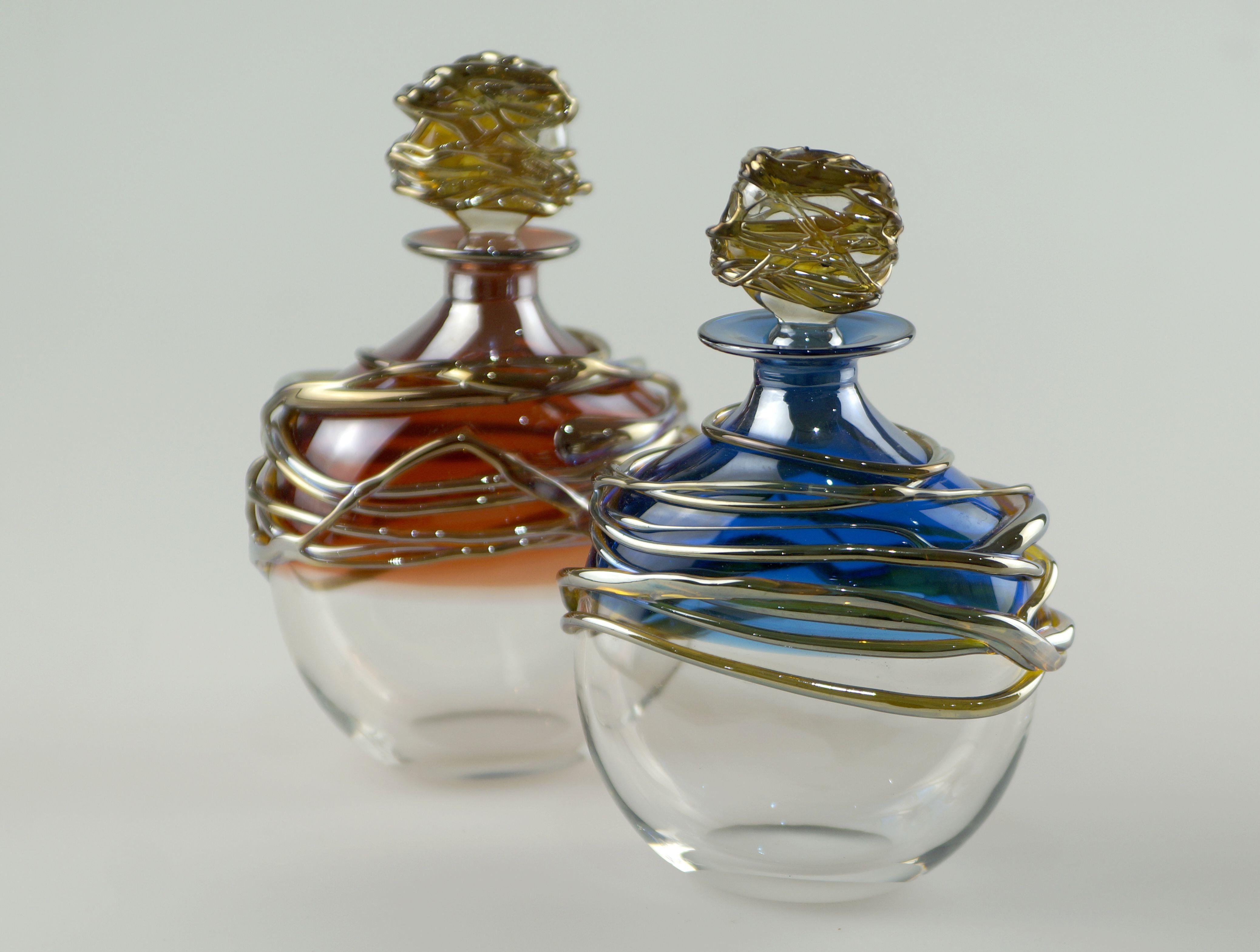 Allister Malcolm Golden Trailing Scent Bottle Glass