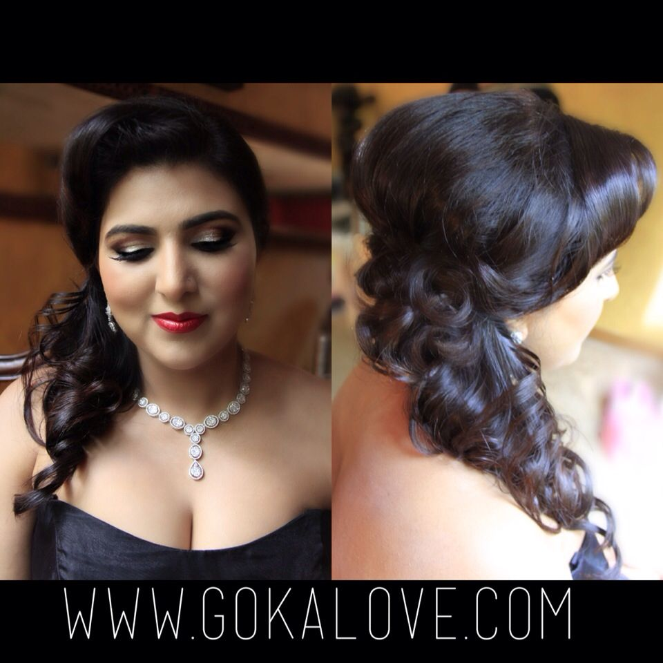 makeup and hair for an indian wedding reception in rhode