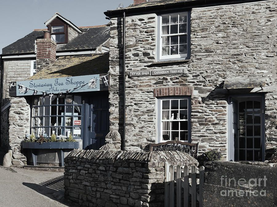 Port Isaac Tea Shoppe Photograph by Melody and Michael Watson - Port Isaac Tea Shoppe Fine Art Prints and Posters for Sale