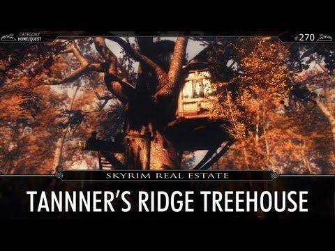 Skyrim Real Estate Tanner's Ridge Treehouse YouTube