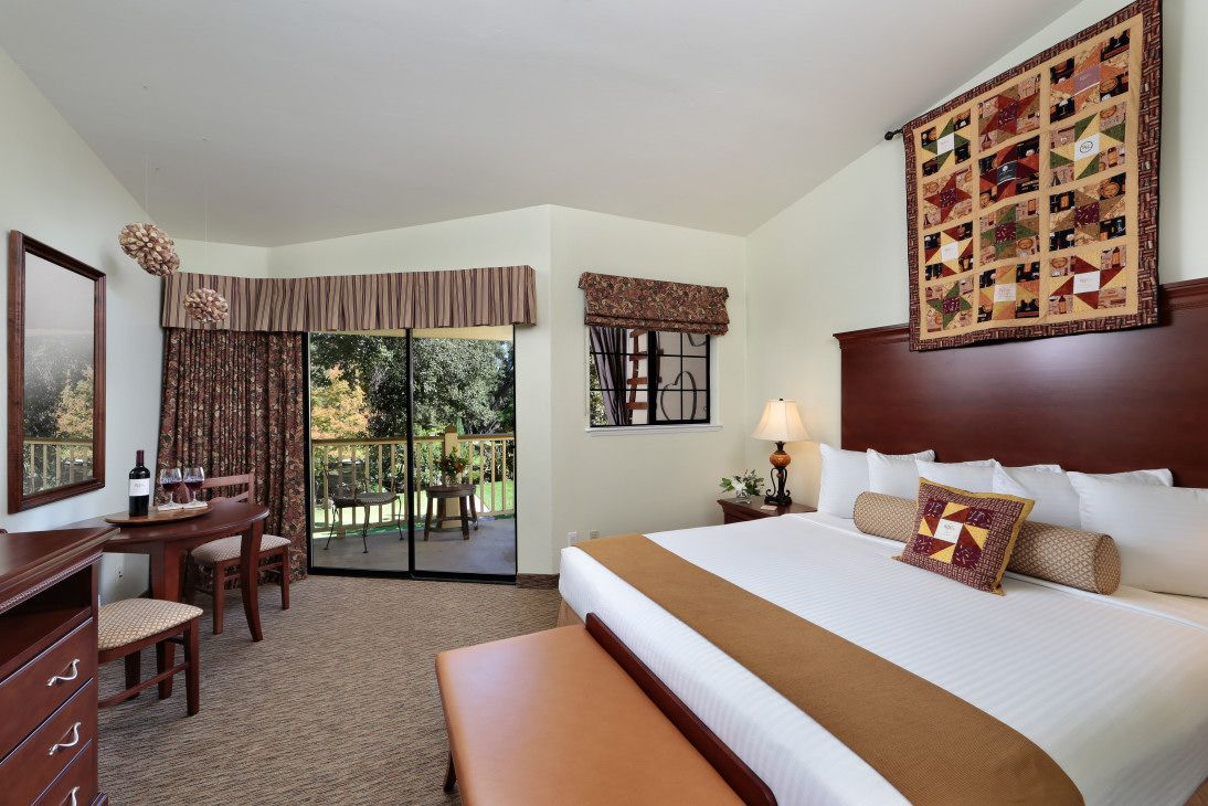 Robert Hall Winery Themed Deluxe Mineral Spa Room at the Paso Robles Inn