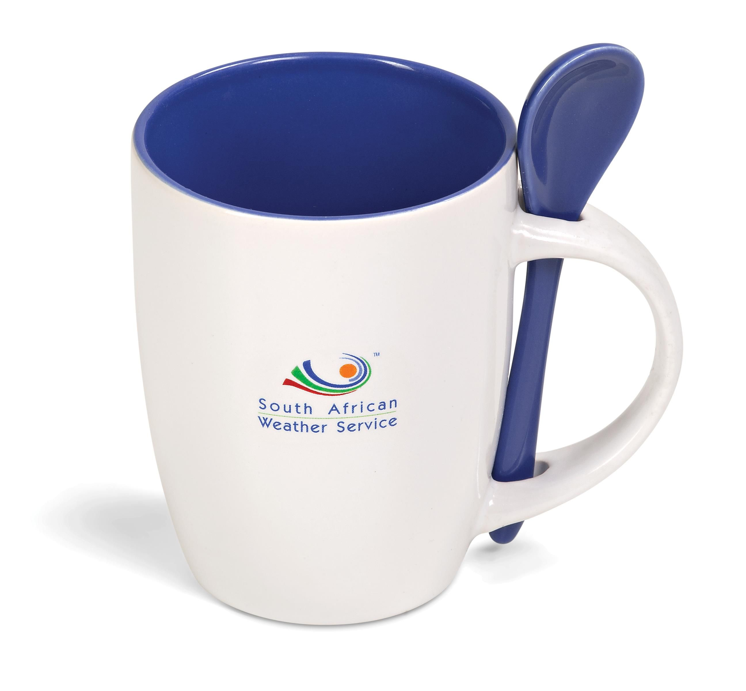 Scoop Mug Ceramic Coffee Mug With A Spoon In The Handle This Is A Great Promotional Item For Busy Office Workers And Coff Mugs Ceramic Mugs Sublimation Mugs