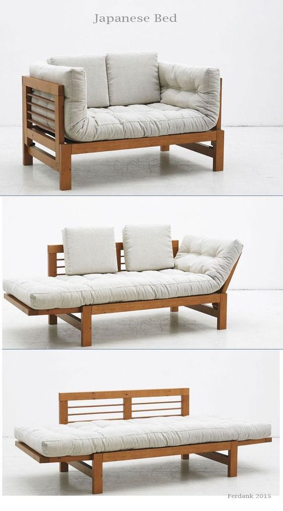 clever transition from couch to day bed to bed pinterest rh pinterest com