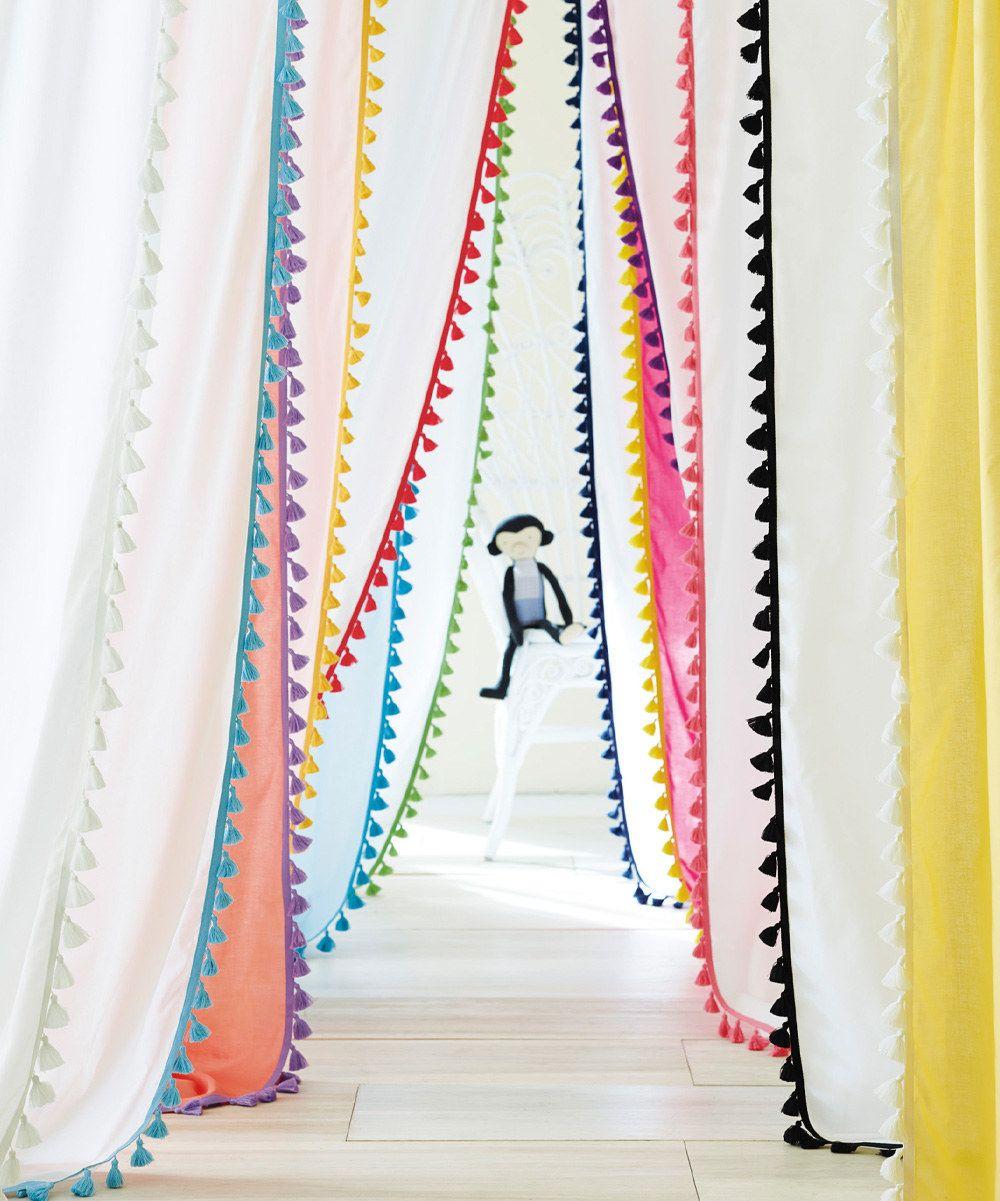 Serena Lily Melon Tassel Window Panel Zulily Rideau Chambre