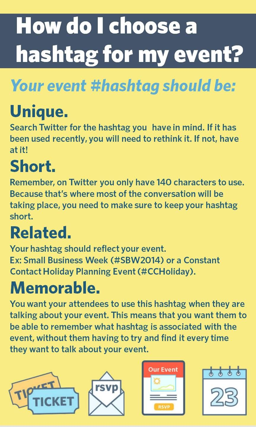 How to Create a Hashtag to Build Engagement at Your Event