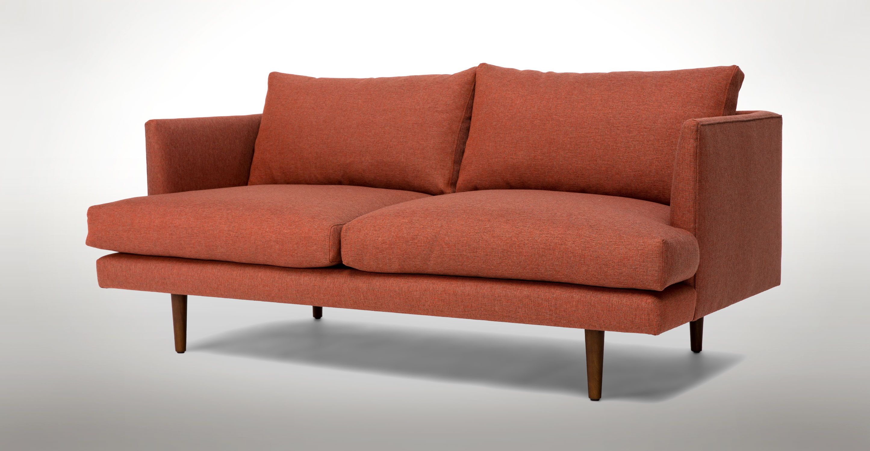 Red Loveseat With Solid Wood Legs Article Burrard Modern