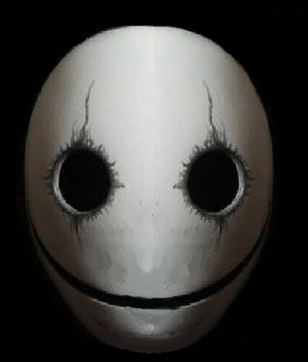 An Edited Version Of A Smiling Mask Using Ms Paint Lol Masks Art Mask Painting Creepy Masks