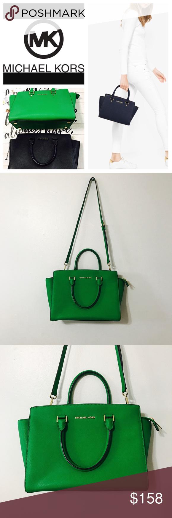 350c1e9ef7e2 ... coupon code for authentic michael kors selma green satchel fc811 d0658