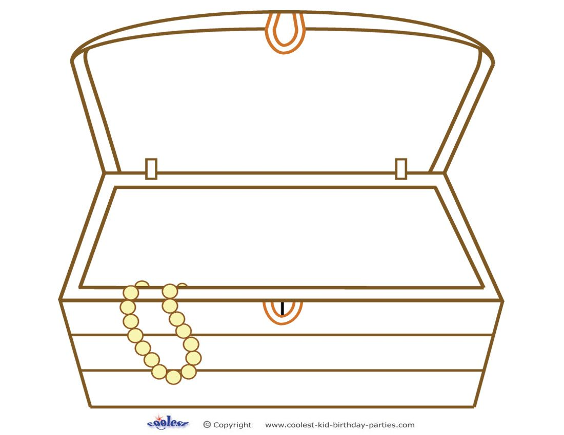 Printable Treasure Chest Treasure Chest Craft Christmas Sunday