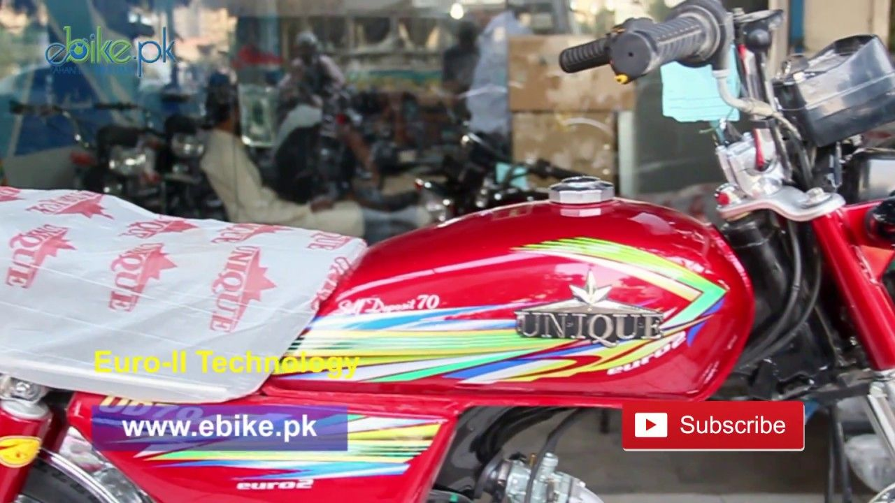 Unique 70cc 2018 Model Price in Pakistan Red Color & Black
