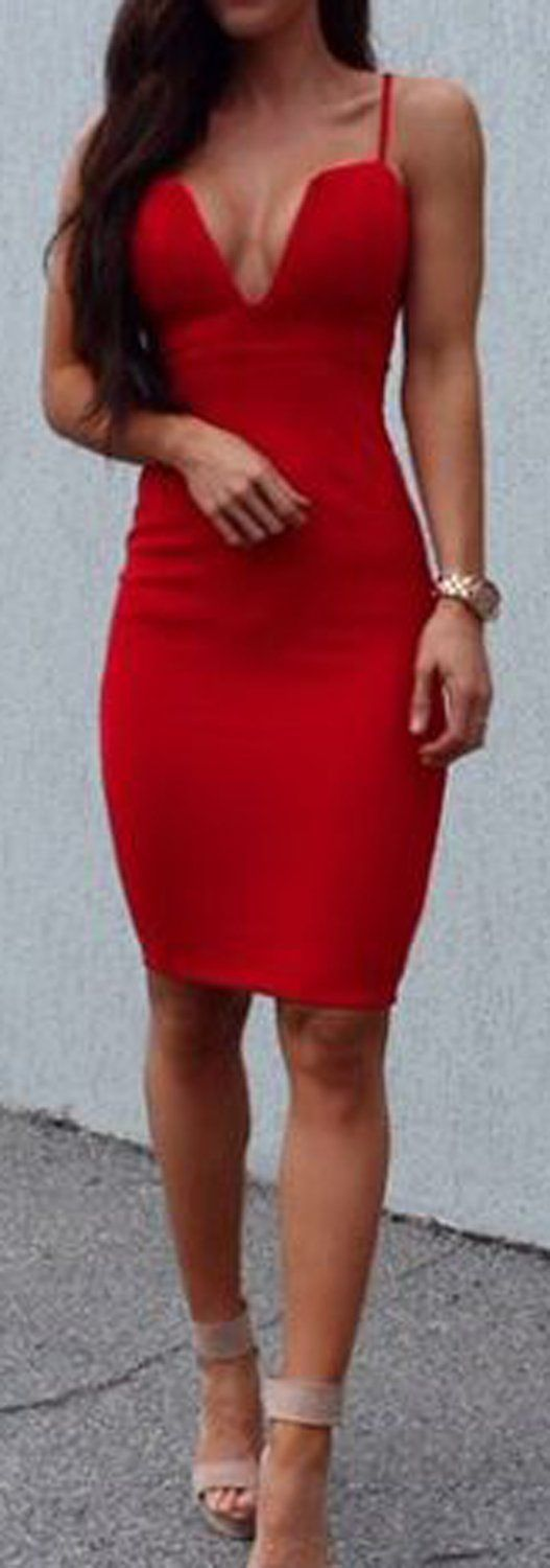 party evening clubbing outfit ideas for women red aline mini