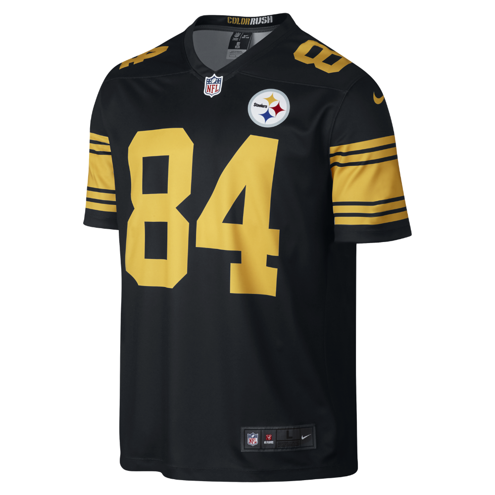 6a6bf8ec7 Nike NFL Pittsburgh Steelers Color Rush Legend (Antonio Brown) Men s  Football Home Jersey Size XL (Black)