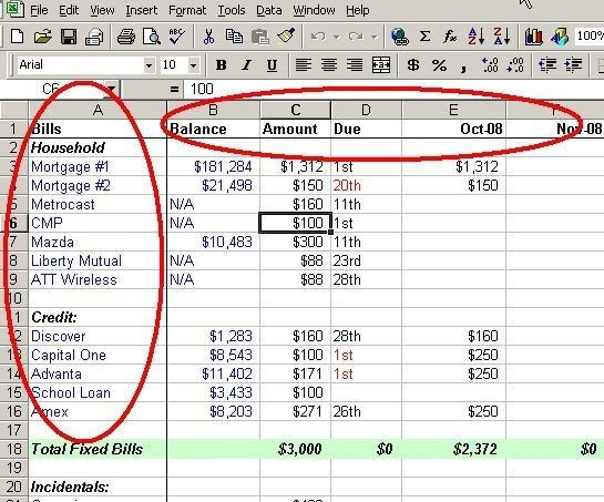 Make a Personal Budget on Excel in 4 Easy Steps image personal - Create A Spreadsheet In Excel