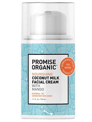 Organic facial moisturizer with sheen