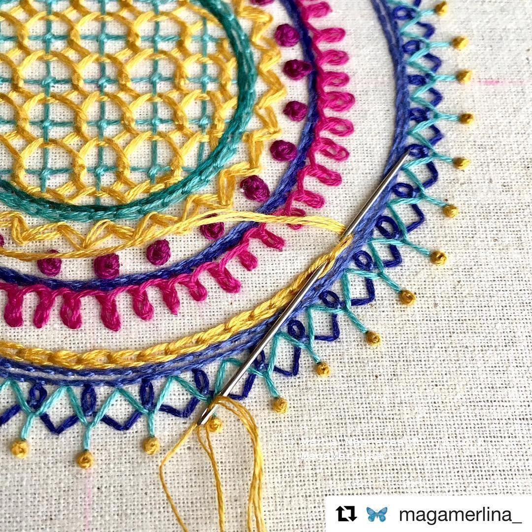 Magamerlina broderie embroidery bordado ricamo handembroidery
