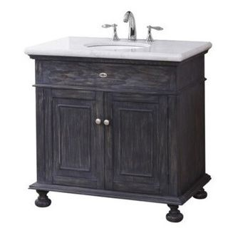 Crawford burke lincoln vanity base with stone top and - Crawford and burke bathroom vanity ...