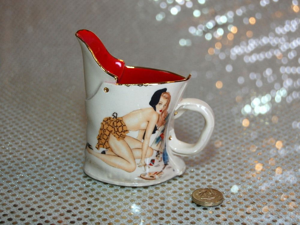 Image of Little pin up jug- Strawberry Blonde