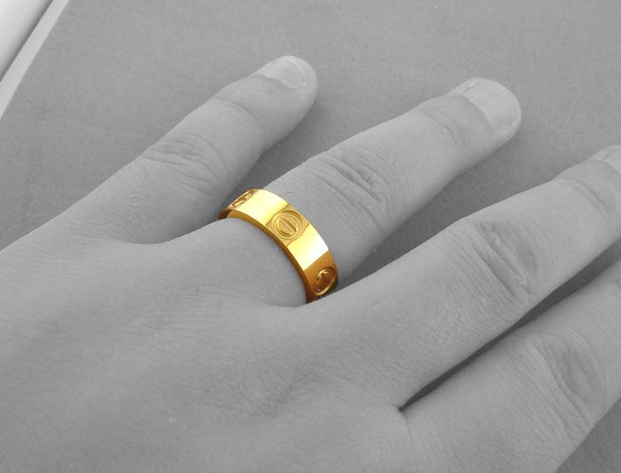 Cartier Yellow Gold Love Ring cartier ring size chart cartier ring