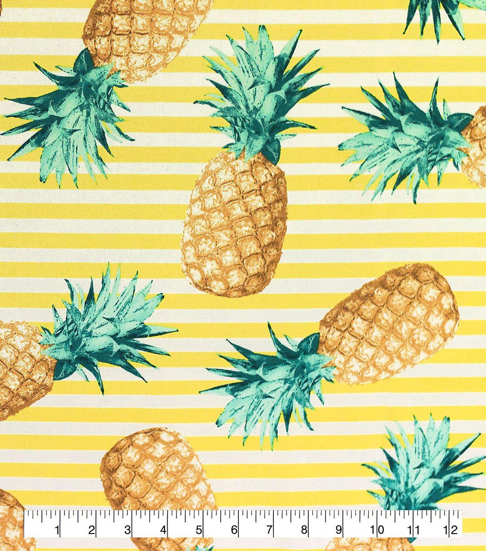 Outdoor Fabric 54 Pineapples On Stripes Joann Fabric Decor