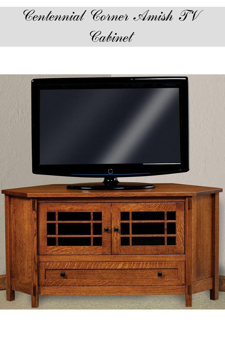 Tv Hall Cabinet Living Room Furniture Designs Wooden Tv: Wooden Corner Amish TV Cabinet #tvcabinet #entertaimant