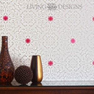 Plantillas decorativas para pintar y decorar paredes como - Disenos para pintar paredes ...