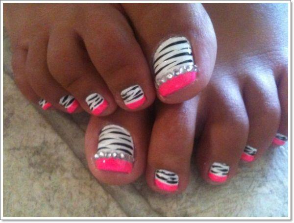 Zebra Nails Makeup And Nails Pinterest Zebra Nails Toe Nail