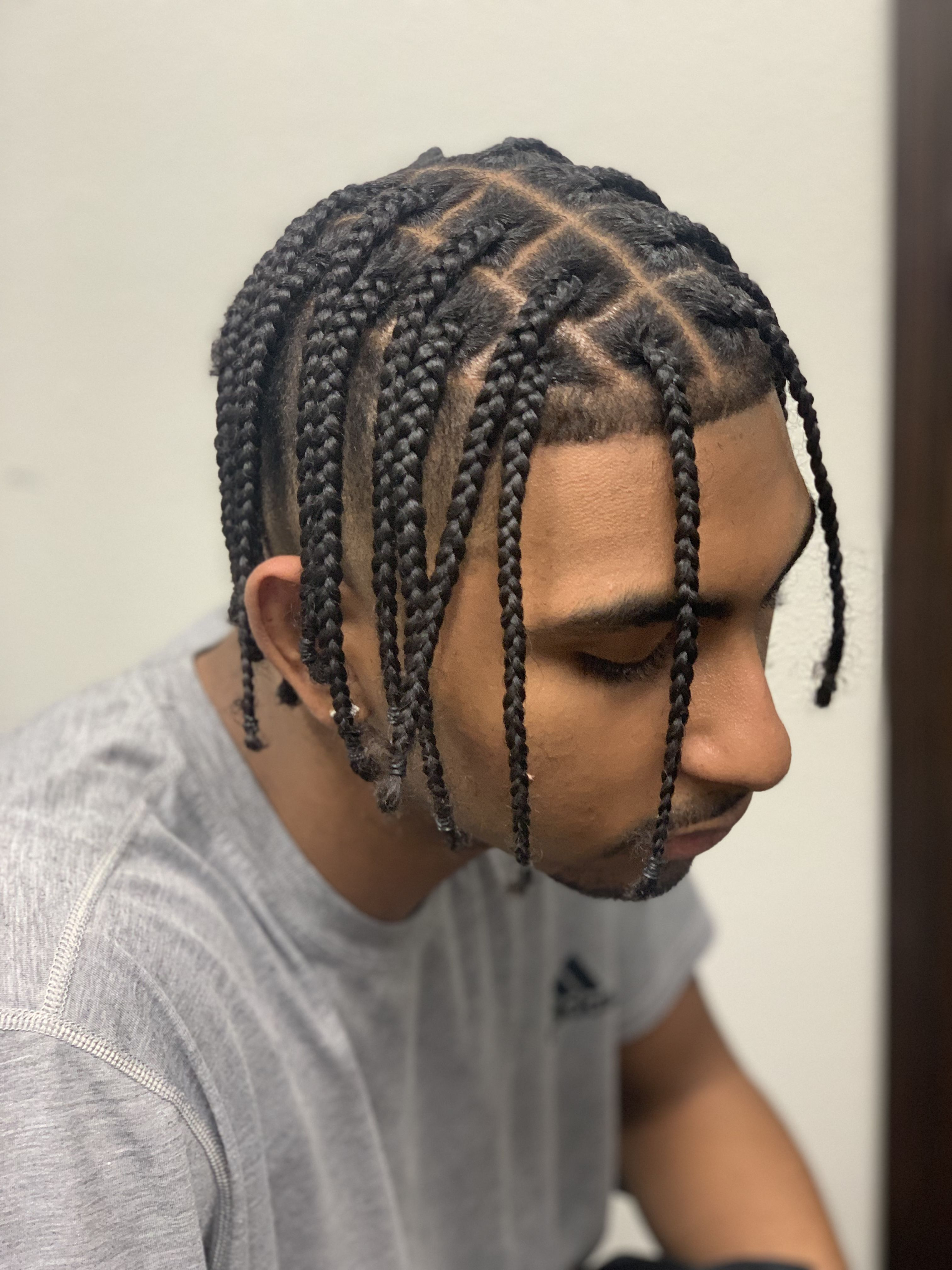 Men S Box Braidz In 2020 Long Hair Styles Men Hair Twist Styles Long Hair Styles