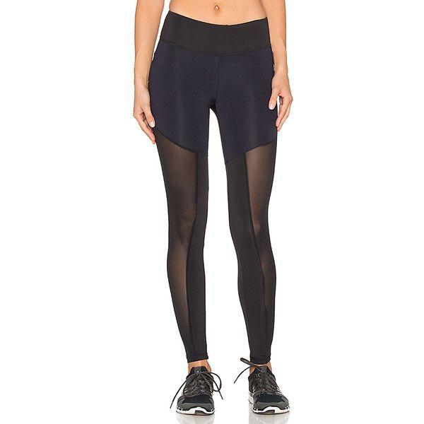 Lanston Sport Mesh Blocked Legging Activewear ($149) ❤ liked on Polyvore featuring activewear, activewear pants and lanston