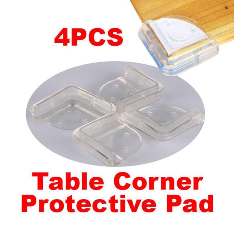 4 unids/lote Corner Seguridad Del Bebé de Silicona Baby Safe Corner Protector De Borde de la Mesa Escritorio Protectores de la Esquina