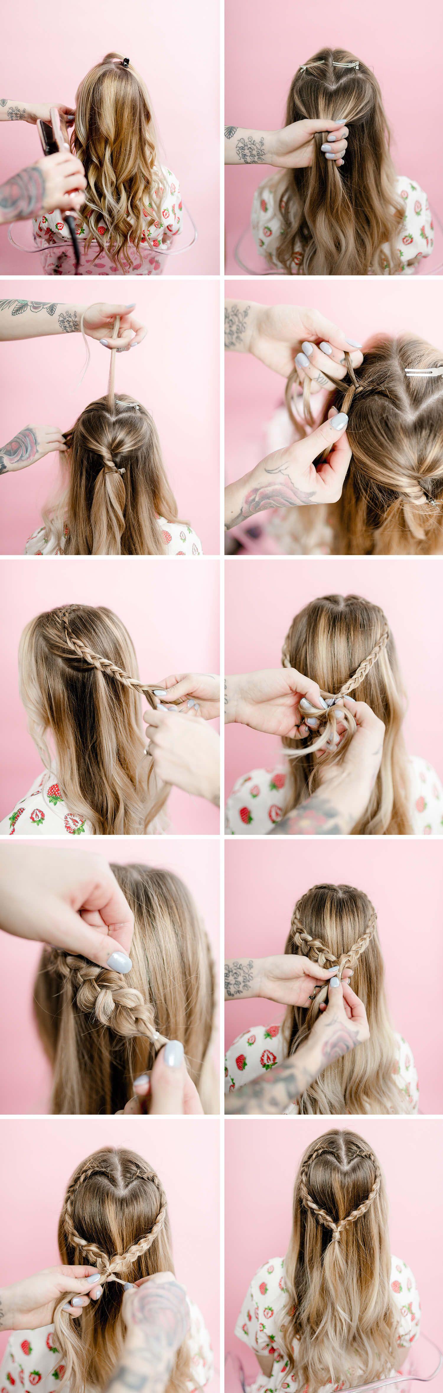 Easy heart-shaped braid