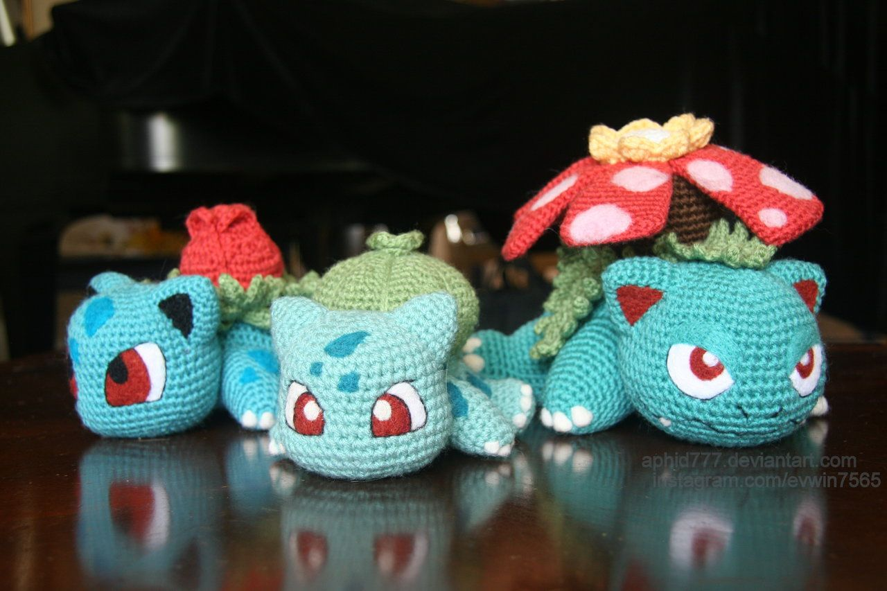 Amigurumi Pokemon Patterns Free : Baby bulbasaur crochet pattern free pokém