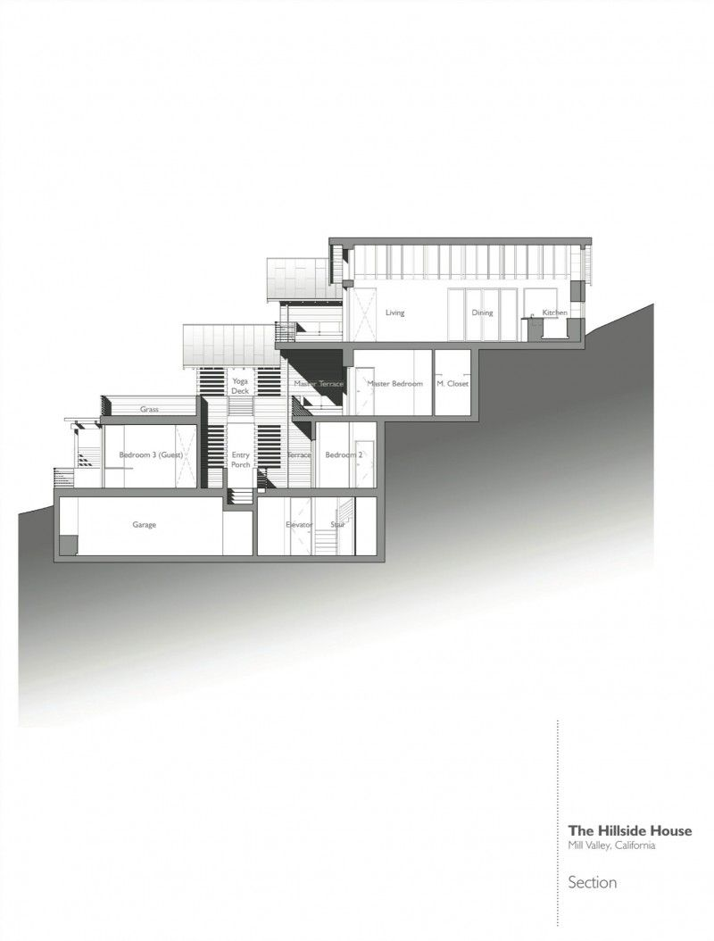 Hillside House By Sb Architects Hillside House Sloping Lot House Plan Architecture House