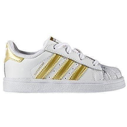 Chaussure basket sport adidas superstar pour Garcon Fille basse   couleur: Blanc – White   B-P3AN